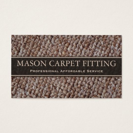 Carpet Fitter Fitting Business Card Zazzle Com How To Clean Carpet Diy Carpet Cleaner Carpet Fitters