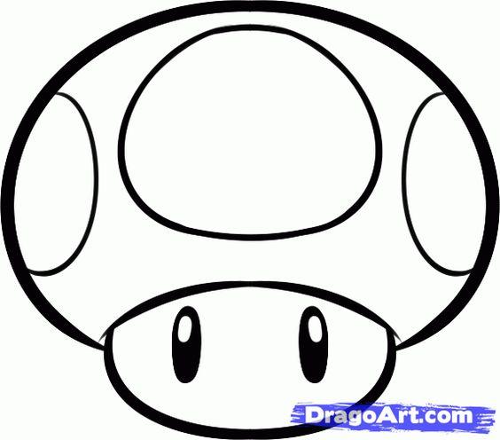 Mario Mushroom Coloring Pages Download