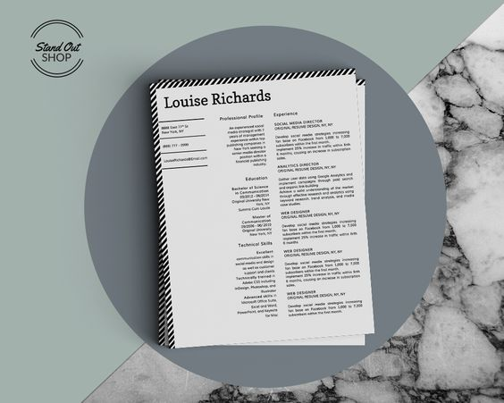 Louise Richards Resume Template Louise Richards Edge \ Style - resume edge