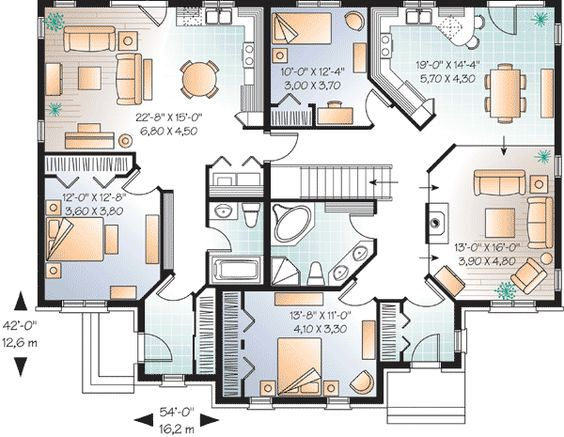 Plan 21766dr House Plan With In Law Suite House Plans