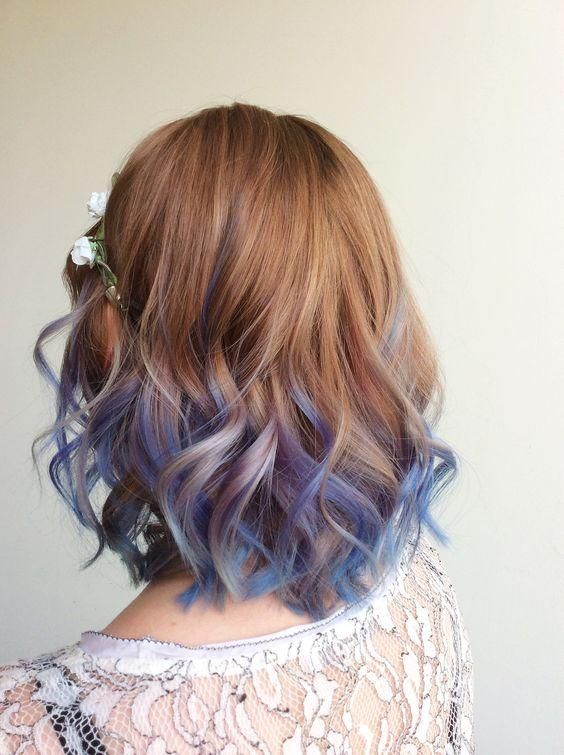 40 Ideas Beautiful Blue Ombre Colors And Styles Hair Color Pictures Aesthetic Hair Hair Color Unique