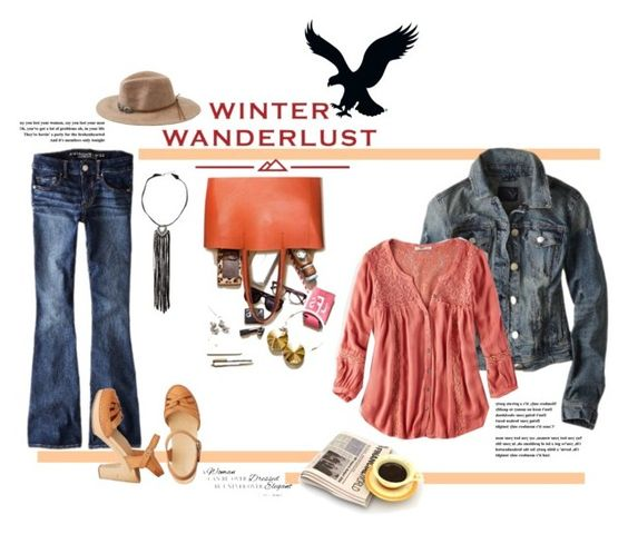 """""""Winter Wanderlust with American Eagle: Contest Entry"""" by marinadusanic ❤ liked on Polyvore featuring American Eagle Outfitters, Chanel, DUDU and aeostyle"""