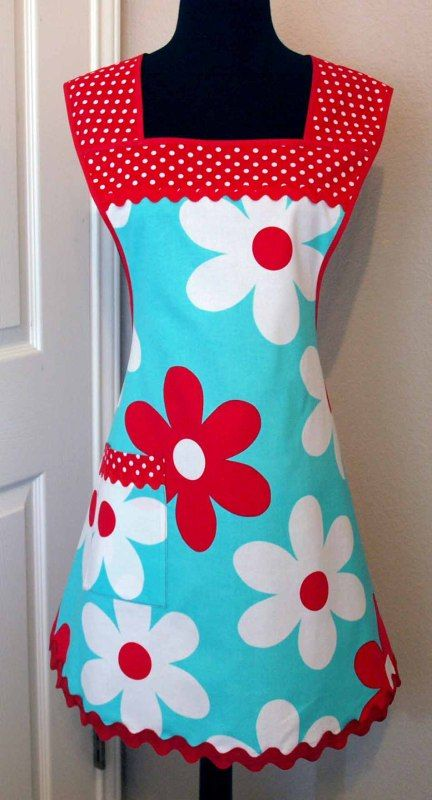 Retro Chic Apron Pattern. This is my favorite. Love the fabric and the style. Pdf pattern $8