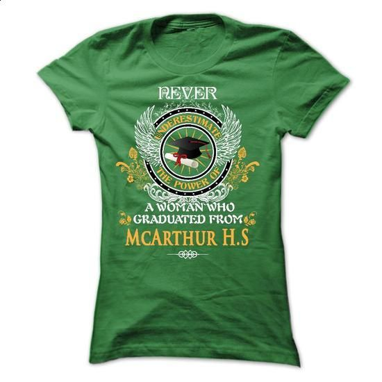 A WOMAN who graduated from McArthur High School - #golf tee #tumblr sweatshirt. I WANT THIS => https://www.sunfrog.com/States/A-WOMAN-who-graduated-from-McArthur-High-School-Ladies.html?68278