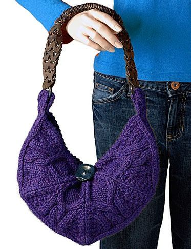 Chic Knitting Patterns : Chic Cable Bag - Free Knitting Pattern Pinterest Cable, Bags and Patterns