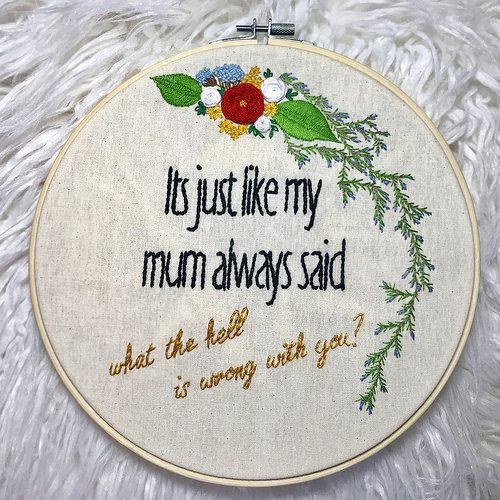 Make Good Choices Embroidery Tropical Plant Cross Stitch Colorful Quote Funny Cross Stitch Motherly Advice Unique Cross Stitch