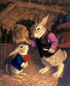 GRANDPA COTTONTAIL AND PETER BY GREG HILDEBRANDT