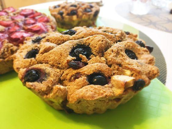 Рецепт кекса с земляникой