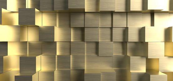 المربعات الذهبية مقذوف خلفية تجريدية 3d In 2021 Abstract Backgrounds Background Wallpaper For Photoshop Wallpaper Background Design