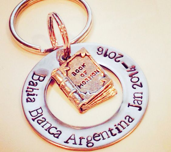 Book of Mormon customizable Keychain! Great for a Missionary OR a Missionary Momma!!!