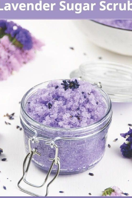 See How To Make Easy Moisturizing Diy Lavender Sugar Scrub With Essential Oils And Coconut Oil Hom In 2020 Sugar Scrub Diy Diy Sugar Scrub Recipe Lavender Sugar Scrub