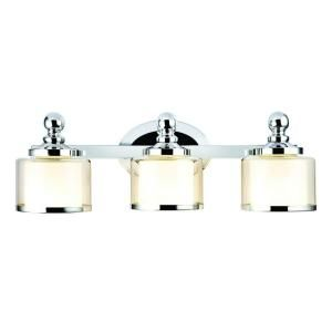 Vanity Lights Up Or Down : Hampton Bay Levan Collection 3-Light Chrome Vanity Sconce - can be installed with glass pointing ...