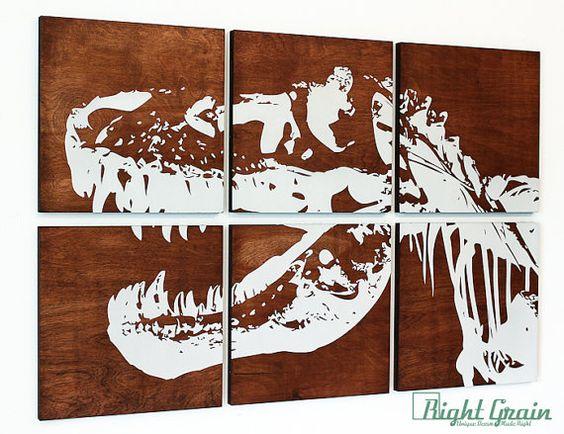 """Dinosaur Art Print Kids Room!"" Screw that: my room. #decor"