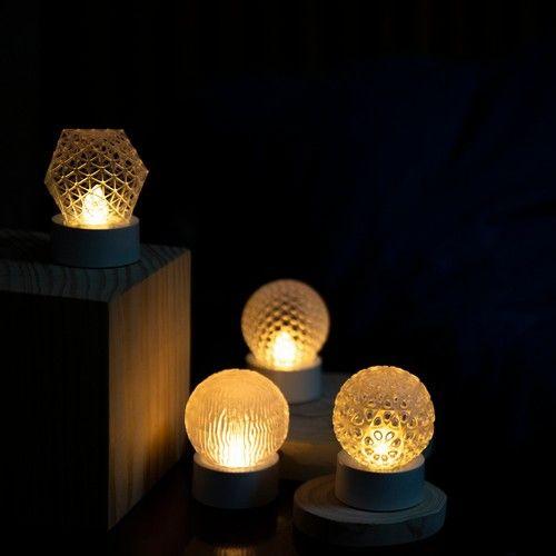 アリス ステンドグラスナイトランプ ランプ ひょうたんランプ ナイトランプ