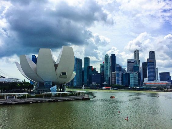 Singapore skyline #vscocam #vscotravel #wanderlust #travelgram #latergram #globetrotter #singapore #artsciencemuseum #architecture