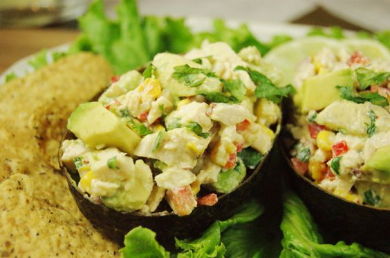 The Kitchen is My Playground: Roasted Corn & Avocado Chicken Salad {& Recipes from Avocado Lovers Site}