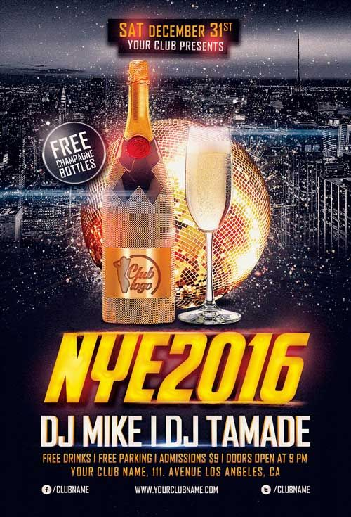 New Years Eve Free Flyer Template - http\/\/freepsdflyer\/new - free new years eve flyer template