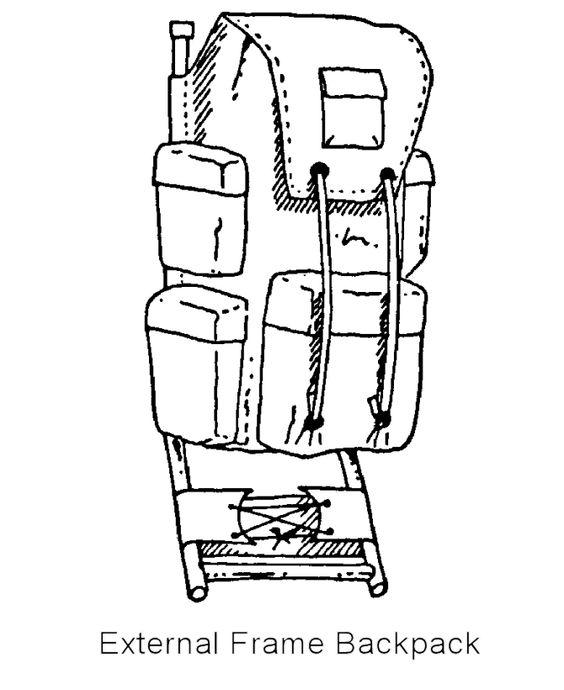 Backpack Coloring: External Frame Backpack