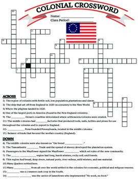 u s history 13 colonies colonial crossword worksheet printable homework meanings of words. Black Bedroom Furniture Sets. Home Design Ideas