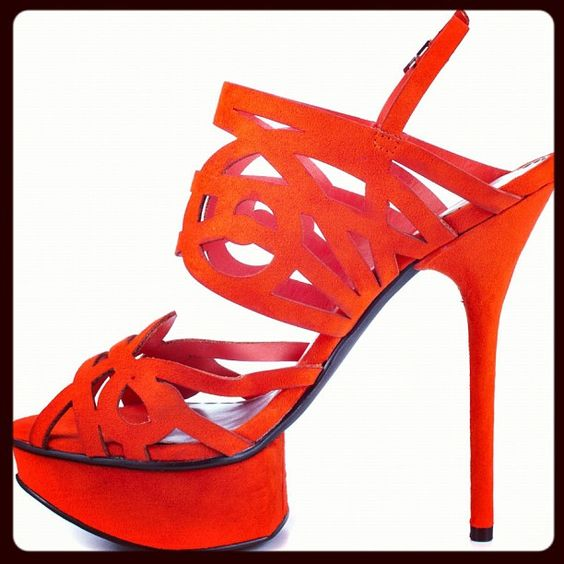 Outrageous Orange from bebe - Click here ... http://www.heels.com/womens-shoes/promise-coral-suede.html
