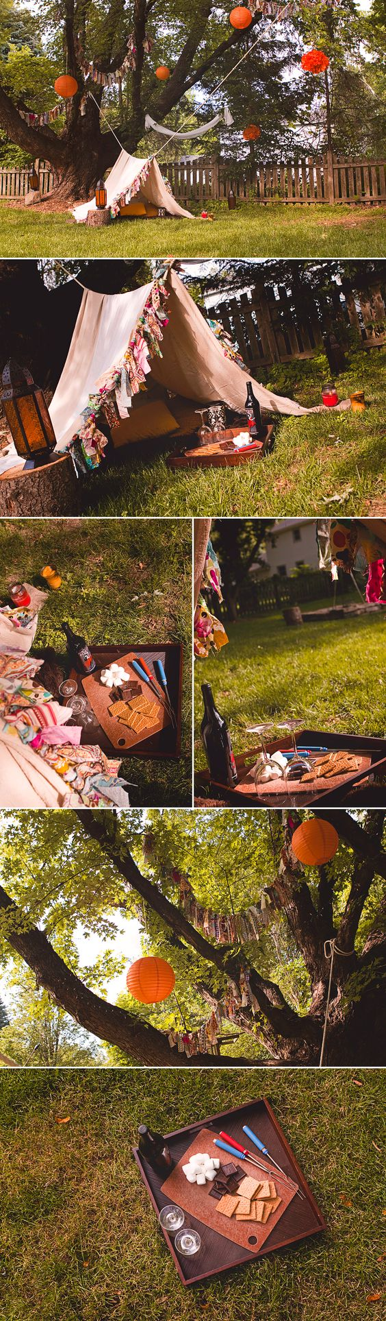 Sunny Days Backyard Camp : Glamping  Camping  Fall Photo Session  Sunshine Magazine  Deanne