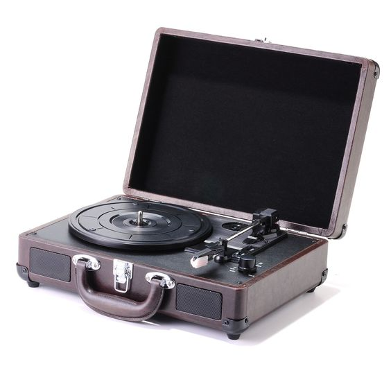 Play all of your vintage vinyl with this retro Magpix Compact briefcase USB Turntable!