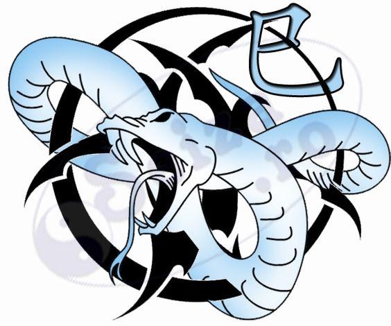 Het Chinese symbool voor het teken van de dierenriem van het jaar van de slang