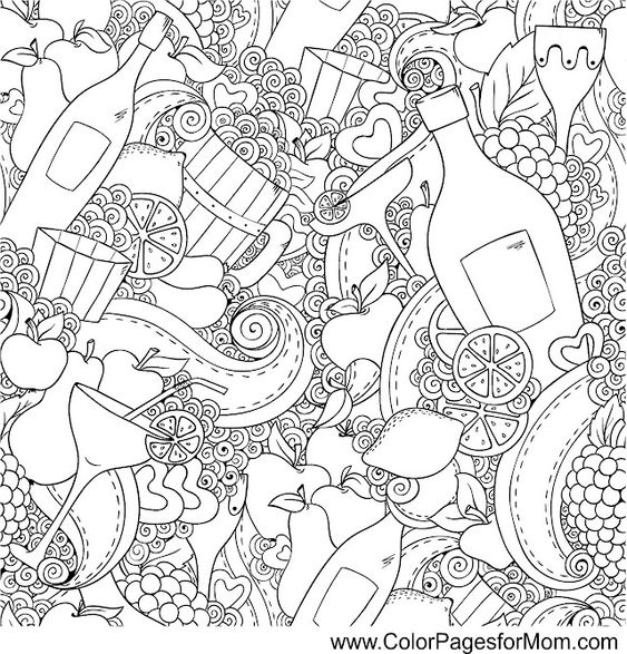 coloring pages wine food animals people | wine coloring page 2 | How cool is this? | Pinterest ...