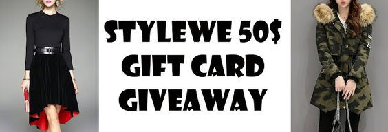StyleWe 50$ Gift Card Giveaway!