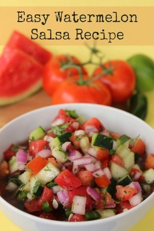 Easy Watermelon Salsa Recipe - Refreshing snack for the summer! #recipe #salsa