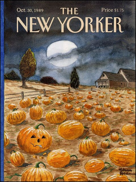 The New Yorker Halloween cover, October, 1989, shared by v.valenti, via Flickr. Art by Charles Addams.: