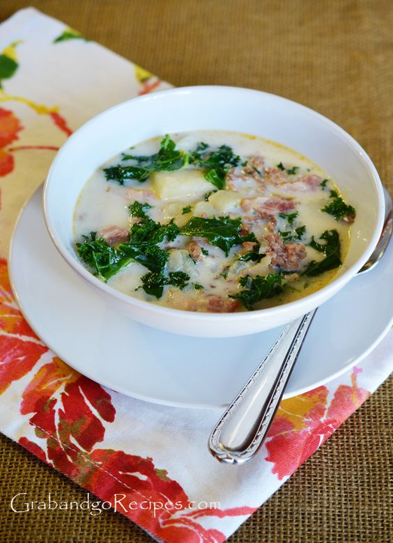 Olive Garden Zuppa Toscana Italian Soup Recipe Gardens Bacon And Italian Sausages
