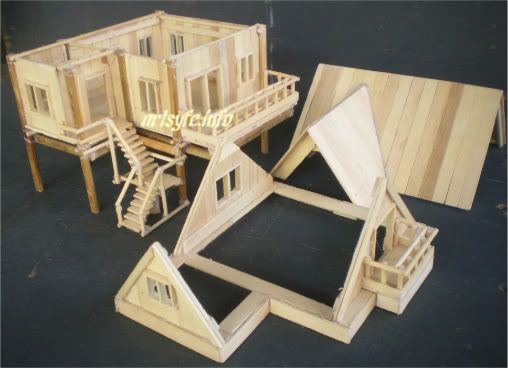 Popsicle sticks house creations collections page 2 for Popsicle stick creations ideas