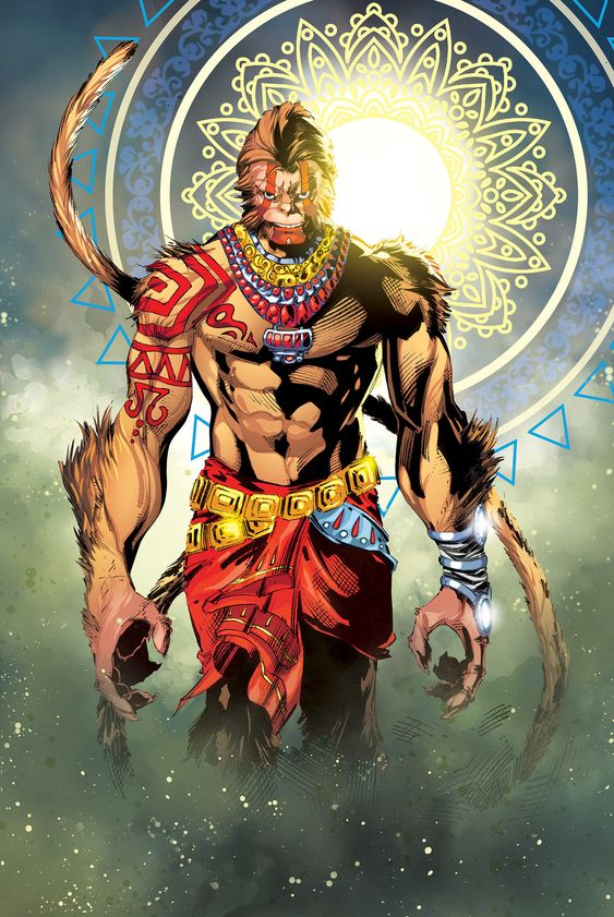 Hanuman art by Press Color