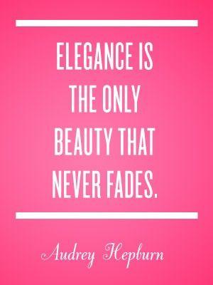 Elegance quote - Audrey Hepburn #quotes