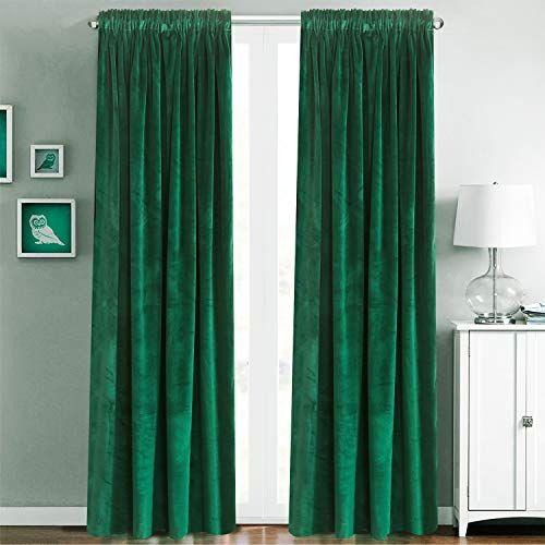blackout velvet curtains rod pocket