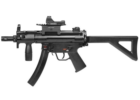 H&K MP5 K-PDW CO2 BB SMG Combo