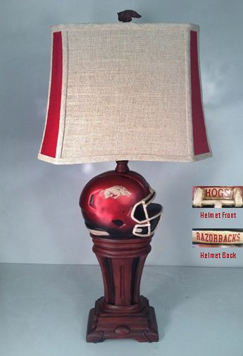 CELEBRATE YOUR FAVORITE TEAM..ARKANSAS RAZORBACKS,,WITH THIS GREAT 33 INCH LAMP…
