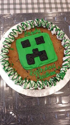 Minecraft Cookie Cake Birthday Ideas Pinterest