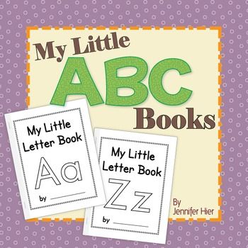 ABC books  -  multi-sensory letter practice and phonics fun for preschool!    Little letter books are simple, uncluttered, and are PERFECT for young children who are just learning the alphabet.  Your kids will have the opportunity to practice letter recognition and phonological awareness as they read and complete a book for each letter of the alphabet.