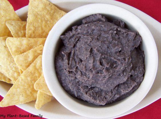 Un-fried Black Beans (oil-free)