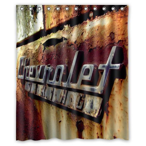 Details About Best Chevrolet Rusty Logo Shower Curtain 60x72 Inch