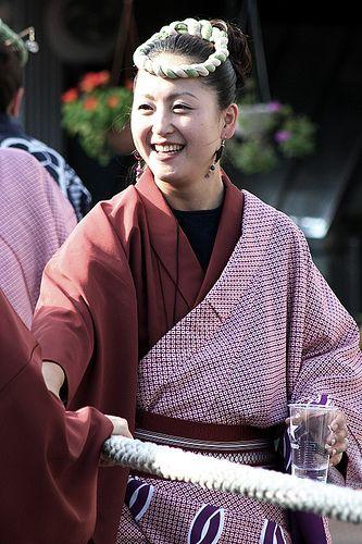 "Smile [佐原の大祭秋祭り(諏訪神社秋祭り)]  Sawara Matsuri Festival  It is a photograph of ""Grand festival of Sawara"" designated as an Important Intangible Cultural Heritage of Japan."