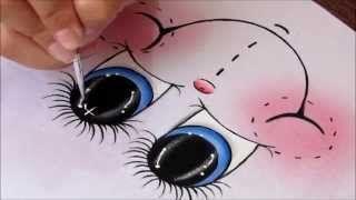 Como pintar olhos no tecido   Cantinho do Video