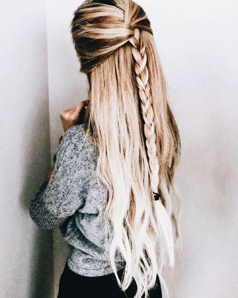 P I N T E R E S T Maggie875 Easy Hairstyles For Long Hair Long Hair Styles Thick Hair Styles