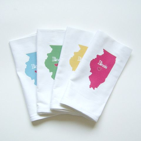 Every state is available. I Love State Napkins, Set of Four | Nicole Porter