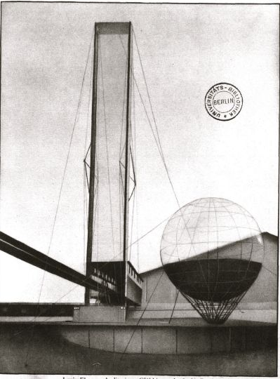 Lenin Institute, by the Soviet Constructivist architect, Ivan Leonidov, 1927 (never built)