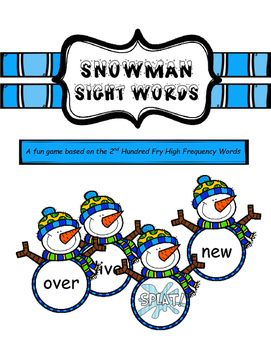 A snowman sight word game for 2-4 players to reinforce high frequency words.