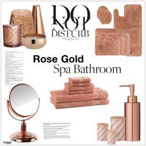 Bathroom decor sets bathrooms decor and gold bathroom on for Rose gold bathroom set