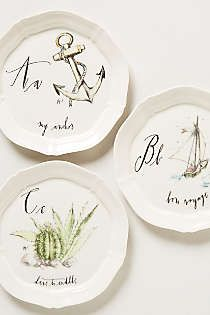 Calligrapher canape plate canapes anthropologie and plates for Calligrapher canape plate